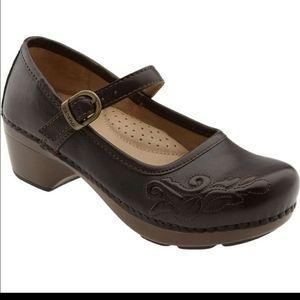 Dansko Savanna Mary Jane Embossed Clogs Shoes 37